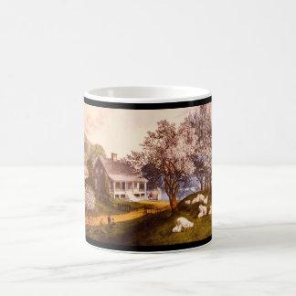 アメリカの家屋敷Spring_Engravings コーヒーマグカップ