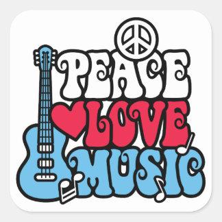 アメリカの平和愛音楽 スクエアシール