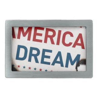 アメリカの平和旗 長方形ベルトバックル