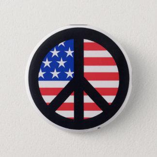アメリカの平和 5.7CM 丸型バッジ