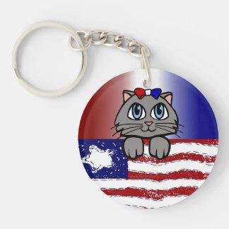 アメリカの心臓地帯の子猫 キーホルダー