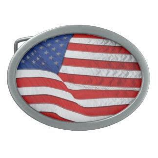 アメリカの愛国者のための米国の旗 卵形バックル