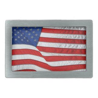 アメリカの愛国者のための米国の旗 長方形ベルトバックル
