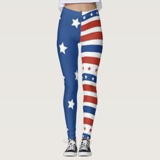 アメリカの愛国者の自由の旗の星のストライプのデザイン レギンス