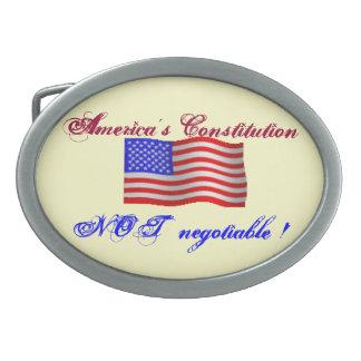 アメリカの憲法は交渉可能ではないバックルではないです 卵形バックル