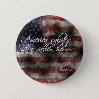 アメリカの挨拶それに亡き英雄が9/11記念Bあります 缶バッジ