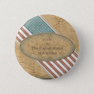 アメリカの旗で作られるおもしろい 缶バッジ