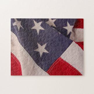 アメリカの旗のパズル ジグソーパズル
