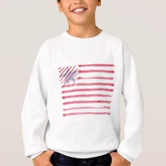 アメリカの旗のワイシャツの青年 スウェットシャツ