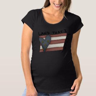 アメリカの旗の女性の妊婦のなTシャツ マタニティTシャツ