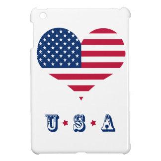 アメリカの旗アメリカ米国のハート iPad MINIケース