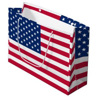 アメリカの旗アメリカ米国 ラージペーパーバッグ