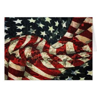 アメリカの旗カムフラージュ カード