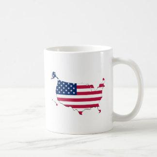 アメリカの旗地図 コーヒーマグカップ