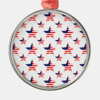 アメリカの星はパターンをタイルを張りました メタルオーナメント