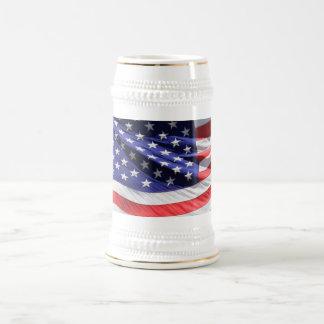 アメリカの星条旗米国はジョッキ、ギフトに印を付けます ビールジョッキ