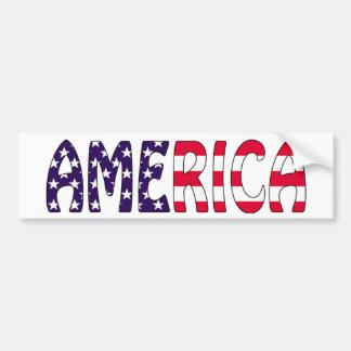 アメリカの星条旗 バンパーステッカー