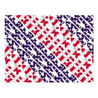 アメリカの星条旗 ポストカード
