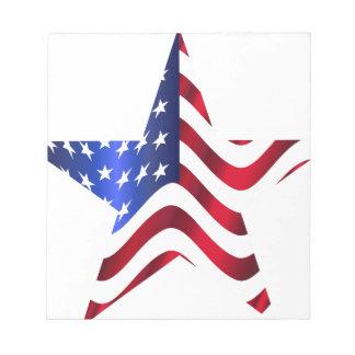 アメリカの星 ノートパッド