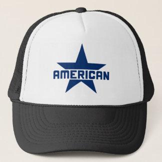 アメリカの星-白の青 キャップ
