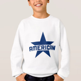 アメリカの星-白の青 スウェットシャツ