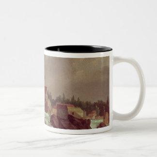 アメリカの最初の紡績工場 ツートーンマグカップ