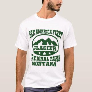 アメリカの最初グレーシャー国立公園モンタナを見て下さい Tシャツ