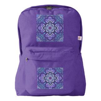 アメリカの服装のバックパックの紫色のタイルのプリント AMERICAN APPAREL™バックパック