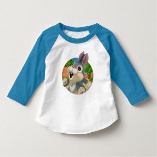 アメリカの服装3/4枚の袖のRaglanのTシャツ Tシャツ