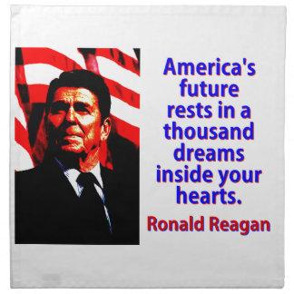 アメリカの未来の残り-ロナルド・レーガン ナプキンクロス