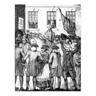 アメリカの植民者は彼ら自身を宣言しました ポストカード