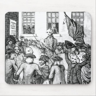 アメリカの植民者は彼ら自身を宣言しました マウスパッド