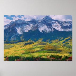 アメリカの樹木限界線オリンピック国立公園山 ポスター