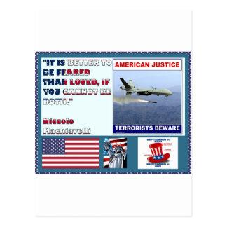 アメリカの正義の空軍無人機のテロリストは用心します ポストカード