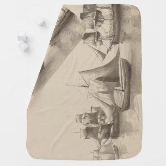 アメリカの歴史-ハリファックスからの航行 ベビー ブランケット