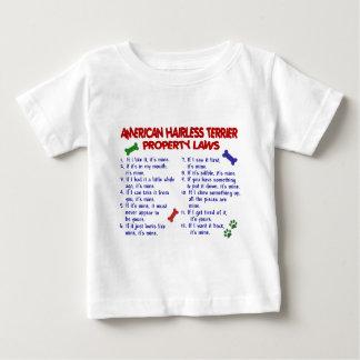 アメリカの毛のないテリアの特性の法律2 ベビーTシャツ