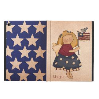 アメリカの民芸の旗の女の子のiPadの空気2箱 Powis iPad Air 2 ケース