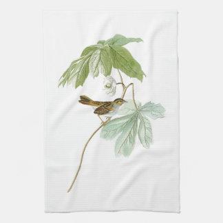 アメリカの泥地すずめのジョン・ジェームズ・オーデュボンの鳥 キッチンタオル