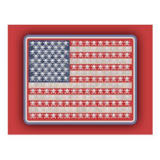 アメリカの海賊旗 ポストカード