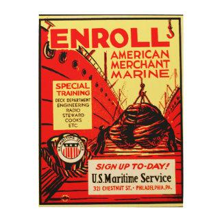 アメリカの海運力; 今日登録して下さい! WoodSnap ウッドウォールアート