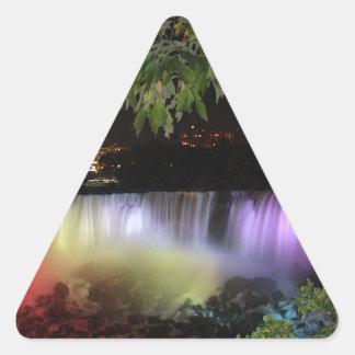 アメリカの滝、カナダ 三角形シール