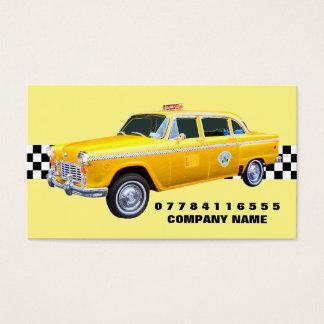 アメリカの漫画のスタイルの黄色のタクシーおよびストリップ 名刺