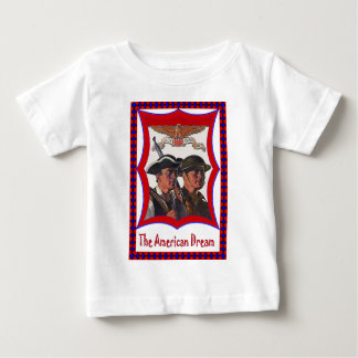 アメリカの独立の兵士 ベビーTシャツ