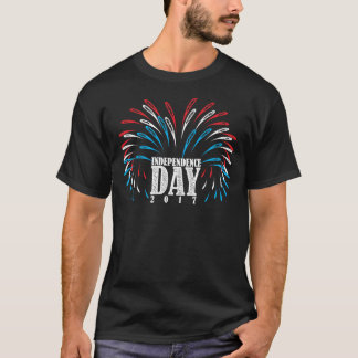 アメリカの独立記念日の花火 Tシャツ