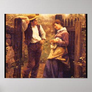 アメリカの田園Courtship', Daniel_Art ポスター