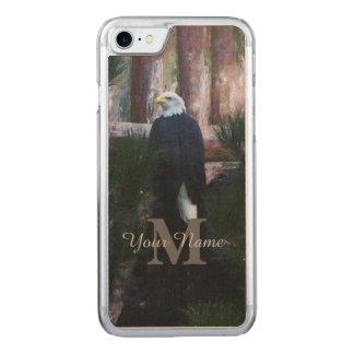アメリカの白頭鷲およびモノグラム CARVED iPhone 8/7 ケース