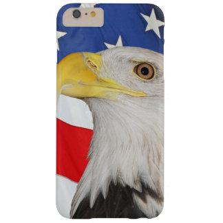 アメリカの白頭鷲が付いている米国旗 BARELY THERE iPhone 6 PLUS ケース