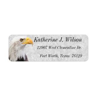 アメリカの白頭鷲の個人的な郵送物のラベル ラベル