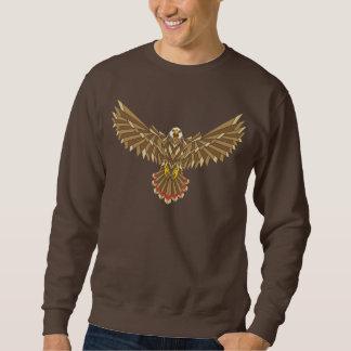 アメリカの白頭鷲の翼の広がり スウェットシャツ
