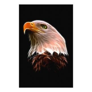アメリカの白頭鷲の頭部 便箋